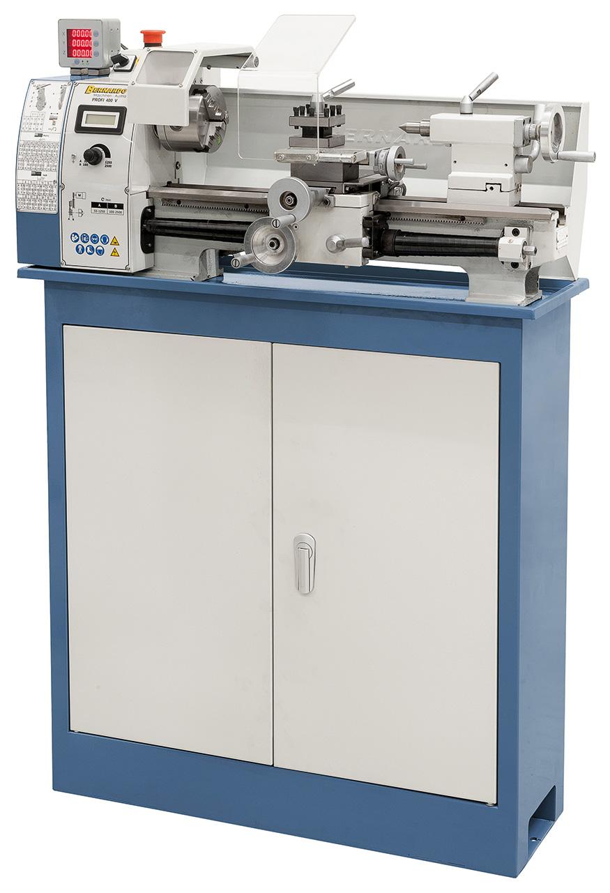Tokarka stołowa Profi 400 V z cyfrowym wyświetlaczem 2-osi  BERNARDO