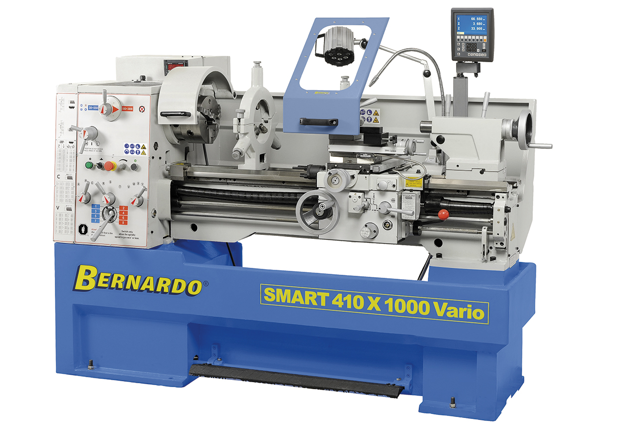 Tokarka SMART 410 x 1000 VARIO z cyfrowym wyświetlaczem 3 osi * BERNARDO