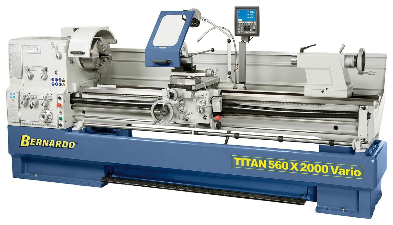 Tokarka TITAN 560 x 3000 VARIO z cyfrowym wyświetlaczem 3 osi i systemem MULTIFIX * BERNARDO