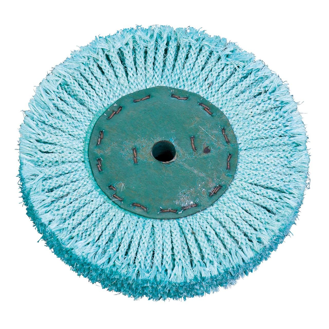 Sizalowa tarcza polerska - sznurek sizalowy zielony Ø 200 x 20 mm, Ø 16 mm BERNARDO