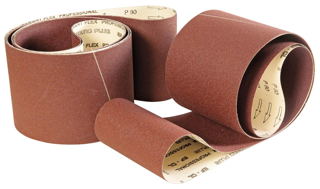 Papier taśma szlifierska 2600 x 150 mm - G 60 / 80 / 100 / 120 / 150 / 180 / 220 ( każdej po 2 szt. ) BERNARDO