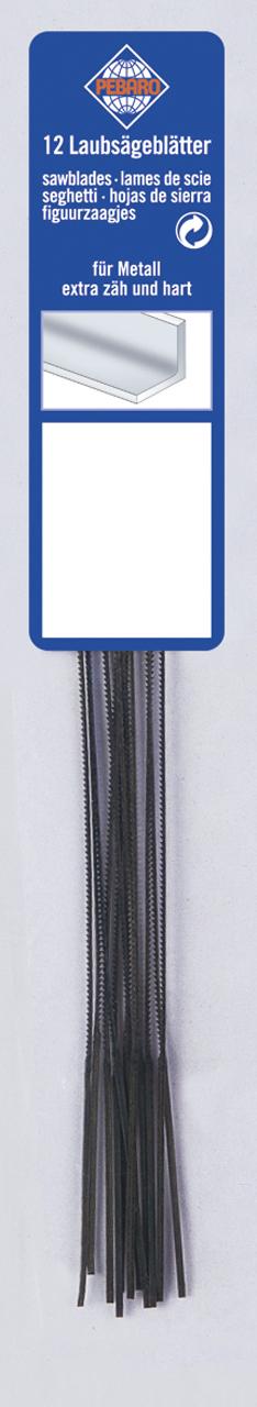 Brzeszczoty do wyrzynarki 130 mm grade 0 - miękka do metalu (12szt.) BERNARDO
