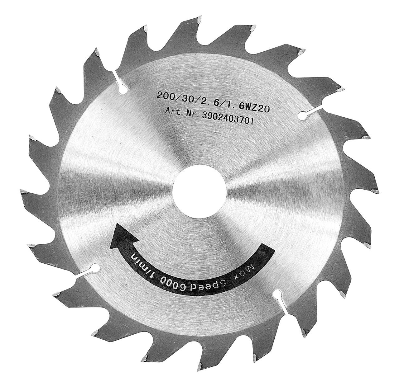 Tarcza tnąca 200 x 3,0 x 30 mm, Z20 BERNARDO