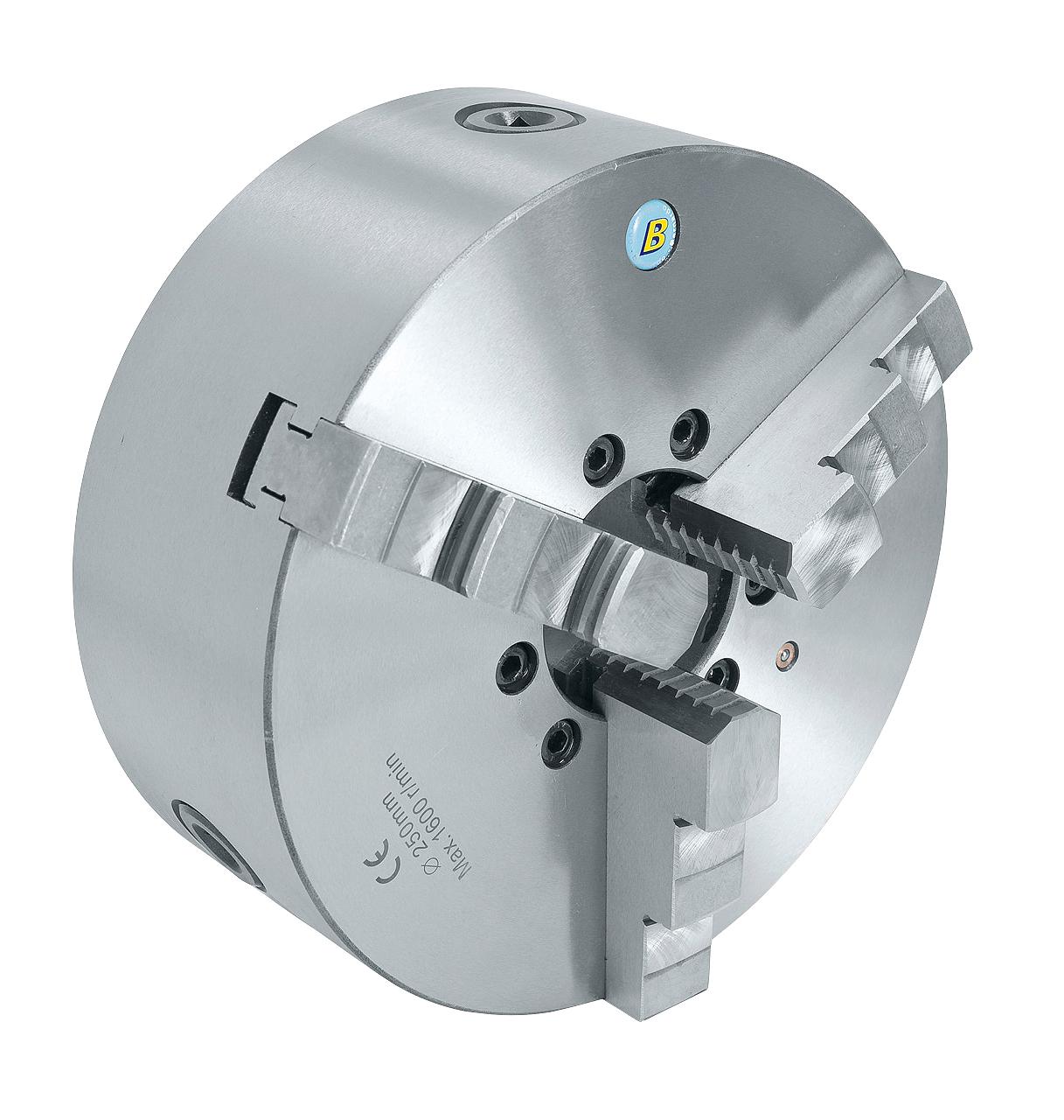 Uchwyt tokarski 3-szczękowy, precyzyjny, żeliwny, DK11-160 DIN 6350  BERNARDO