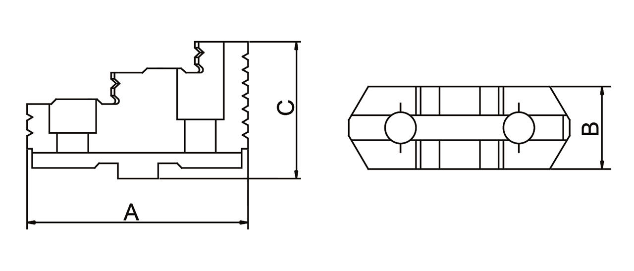 Szczęki górne twarde - komplet DTJ-DK12-500 BERNARDO