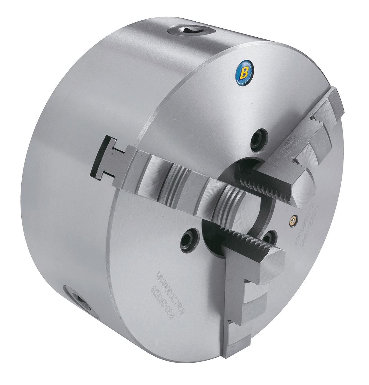 Uchwyt tokarski 3-szczękowy Bernardo PS3-D zgodnie z DIN 55029  PS3-250/D6, żeliwny BERNARDO