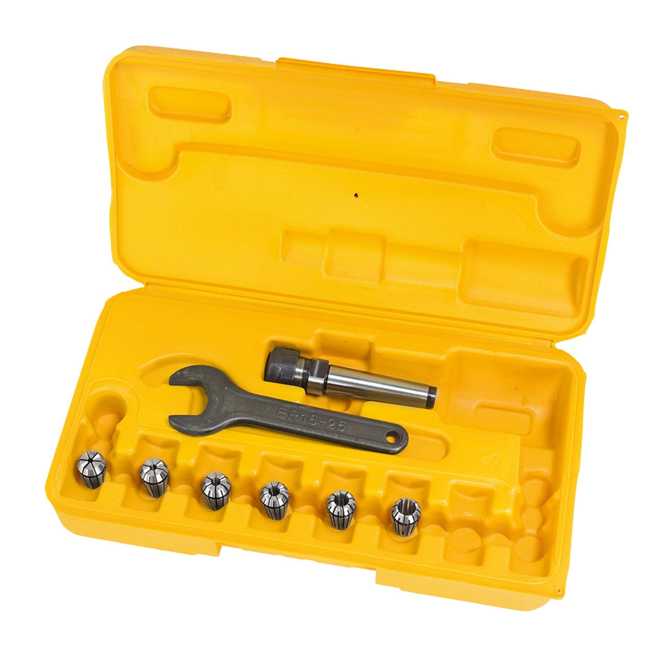 Tuleje zaciskowe frezu, zestaw ER 16, MK 2, 3 - 10 mm, 7 szt. BERNARDO