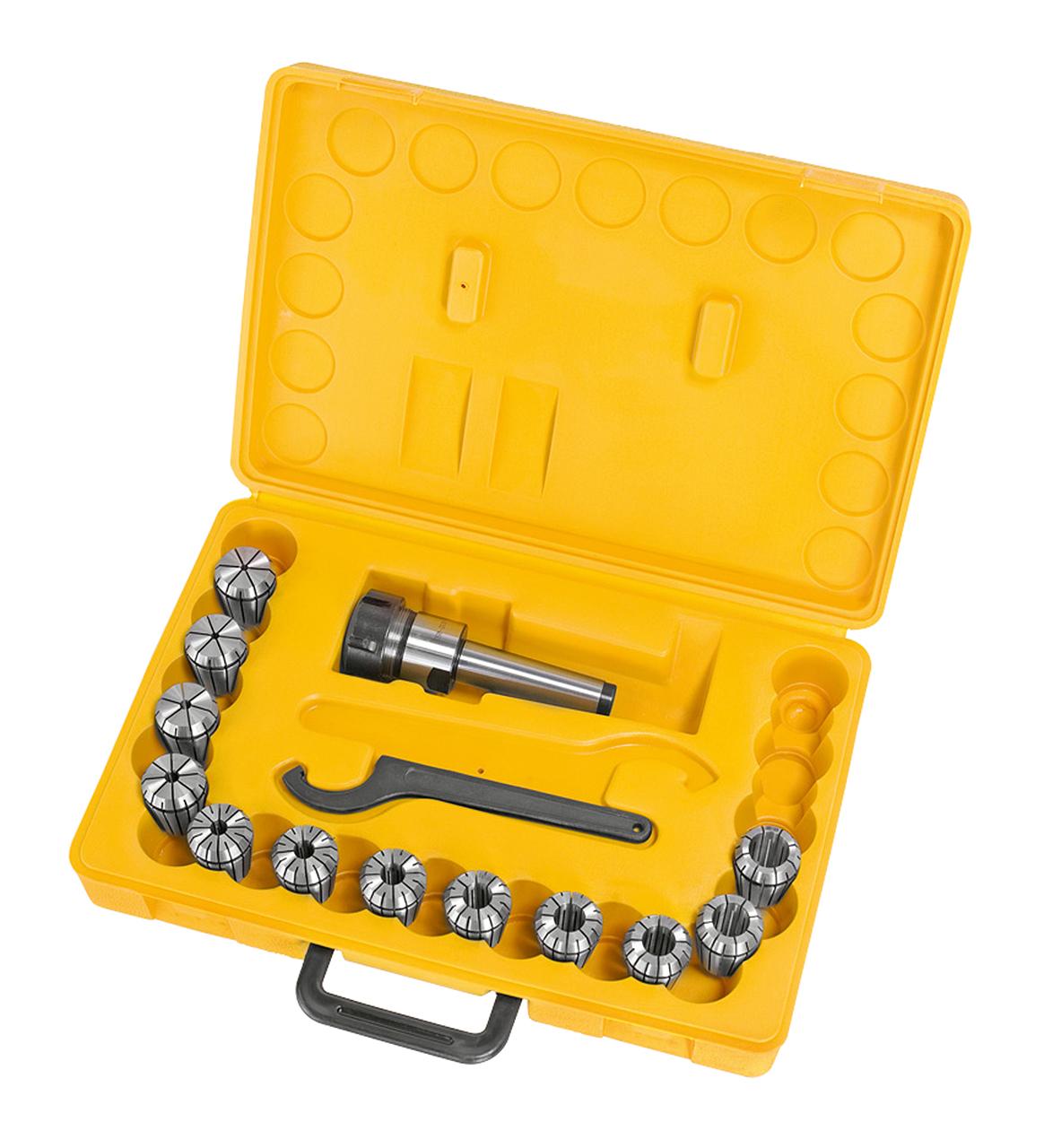 Tuleje zaciskowe frezu, zestaw ER 32, MK 3, 3 - 20 mm, 13 szt. BERNARDO