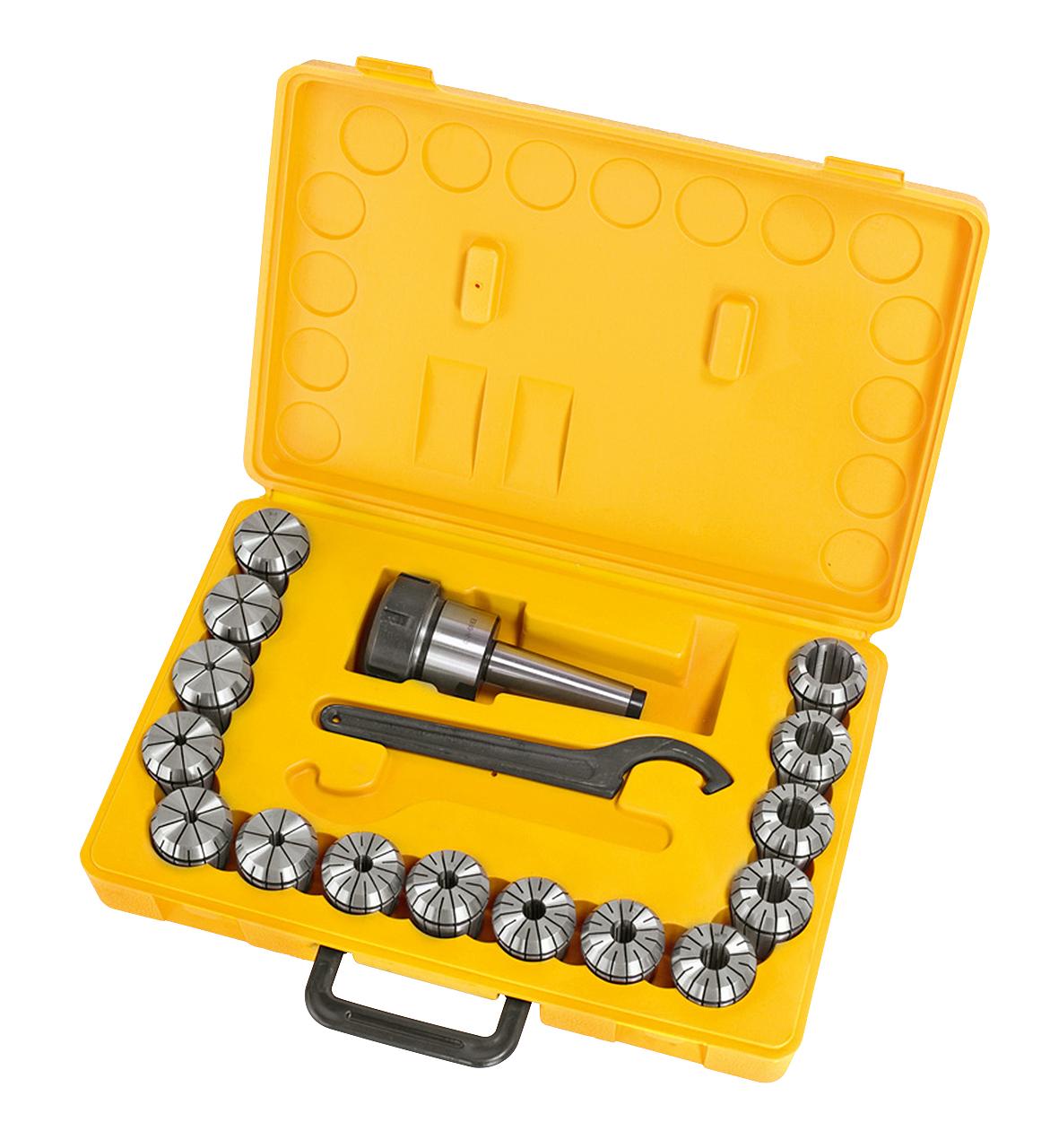 Tuleje zaciskowe frezu, zestaw, MK 3, 3 - 25 mm, 16 szt. ER40 BERNARDO