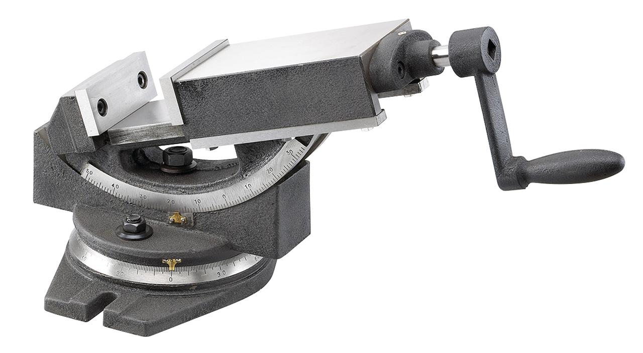 Dwuosiowe imadło maszynowe śrubowe GS 150 BERNARDO
