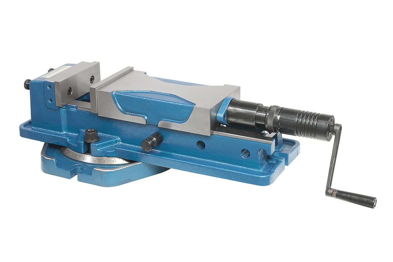 Wysokociśnieniowe imadło maszynowe śrubowe z tarczą PHV 160 BERNARDO