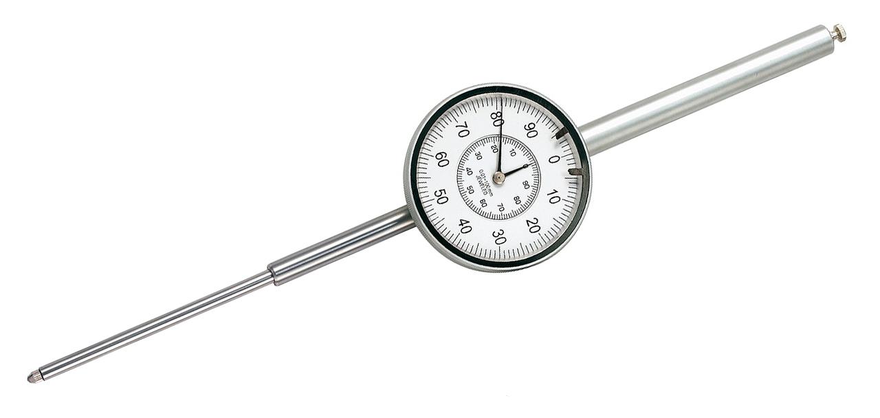 Czujnik zegarowy z dużym zakresem pomiaru 100 mm x 0,01 mm / DIN 878 BERNARDO
