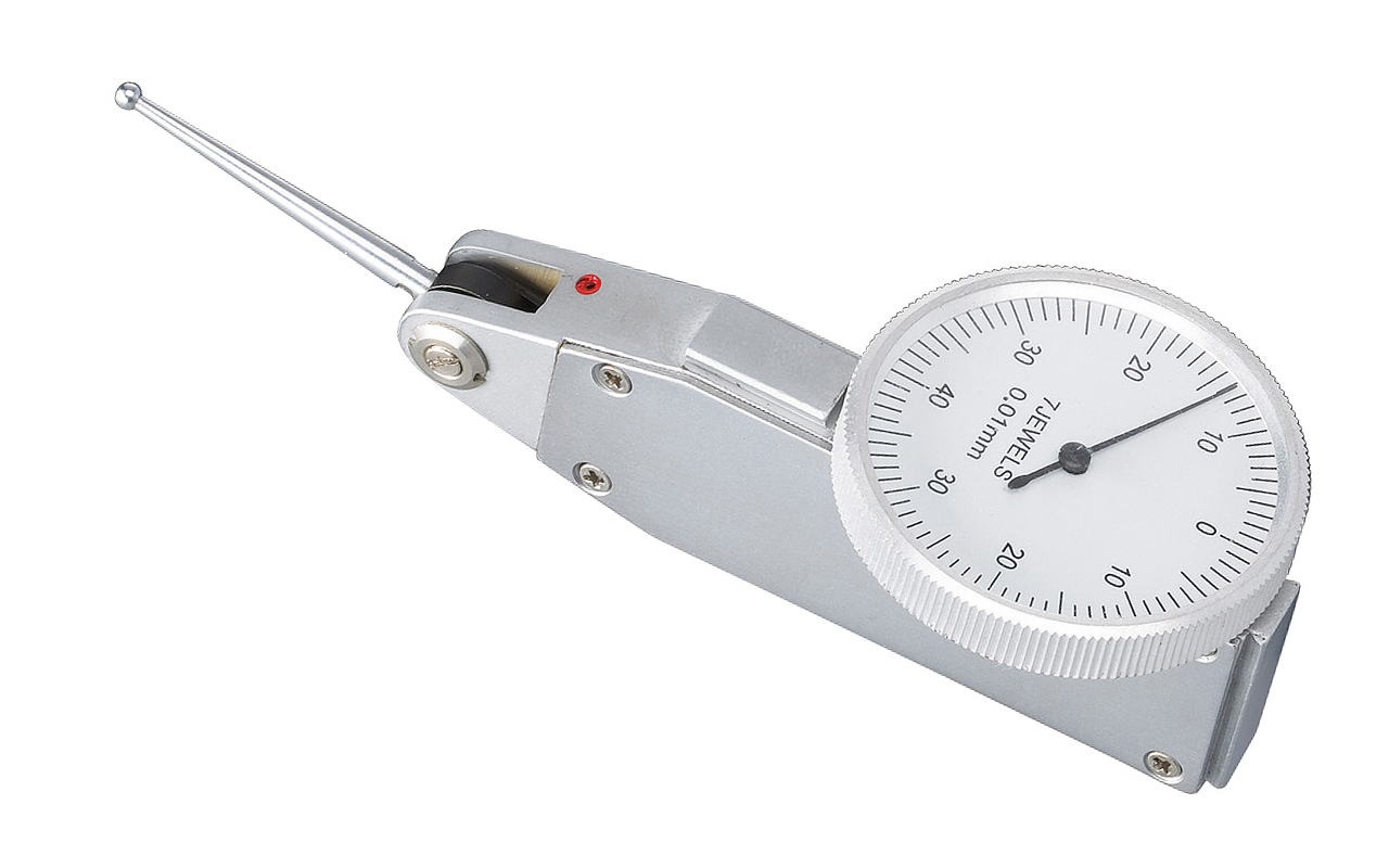 Precyzyjny czujnik zegarowy do równości i odchyłów 0 - 0,8 mm x 0,01 mm z długą sondą BERNARDO
