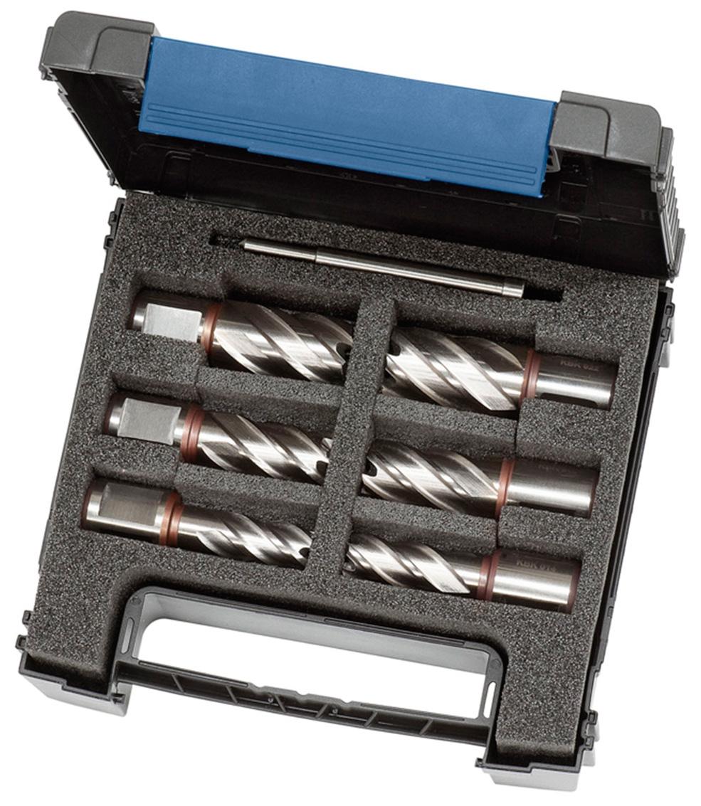 Standard. zestaw wierteł rdzeniowych HSS KBK, 13 - 22 mm, gł. wierc. 30 mm BERNARDO