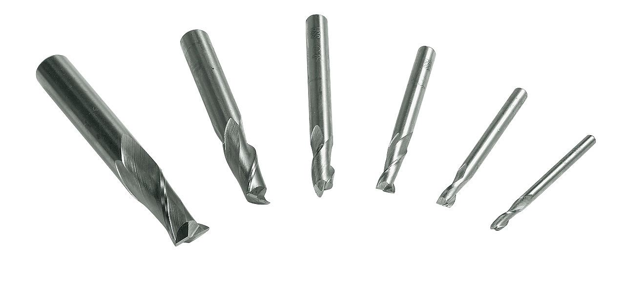 Frezy, zestaw frezów palcowych 3 - 10 mm, 6 szt. HSS BERNARDO