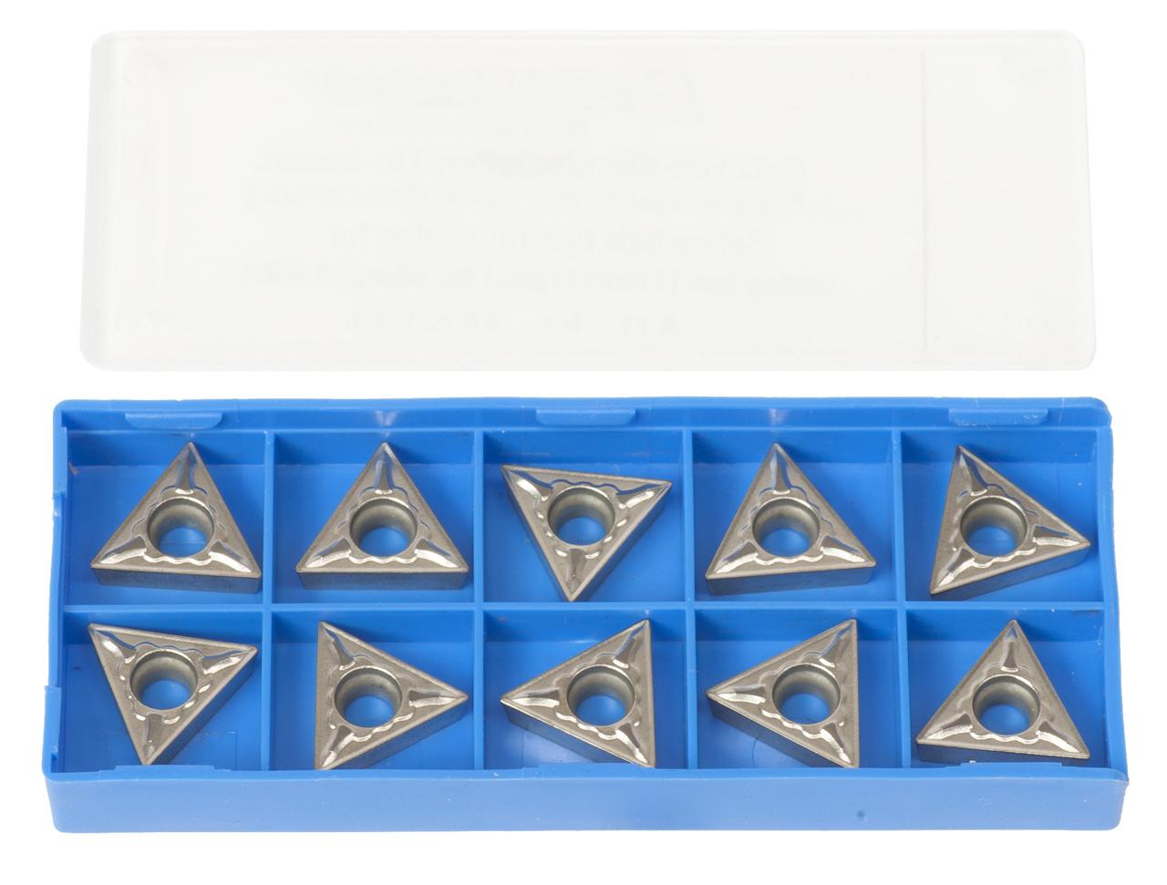 Zestaw płytek węglikowych HM - płytki (10 szt.) pasujących do noży tokarskich 20 mm BERNARDO