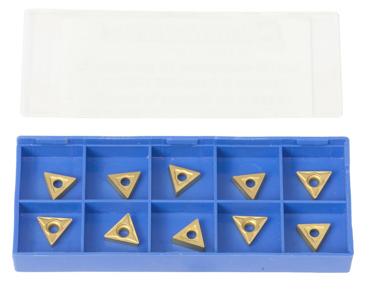 Zestaw płytek węglikowych HM - płytki (10 szt.) pasujących do noży tokarskich 10,12 mm BERNARDO