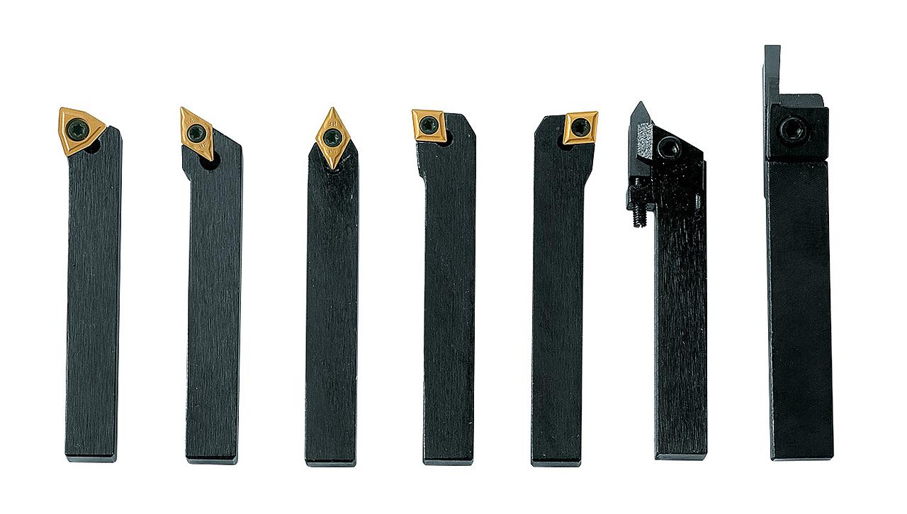 Noże tokarskie z płytkami weglikowymi HM, 8 mm, 7 szt. Zestaw A BERNARDO