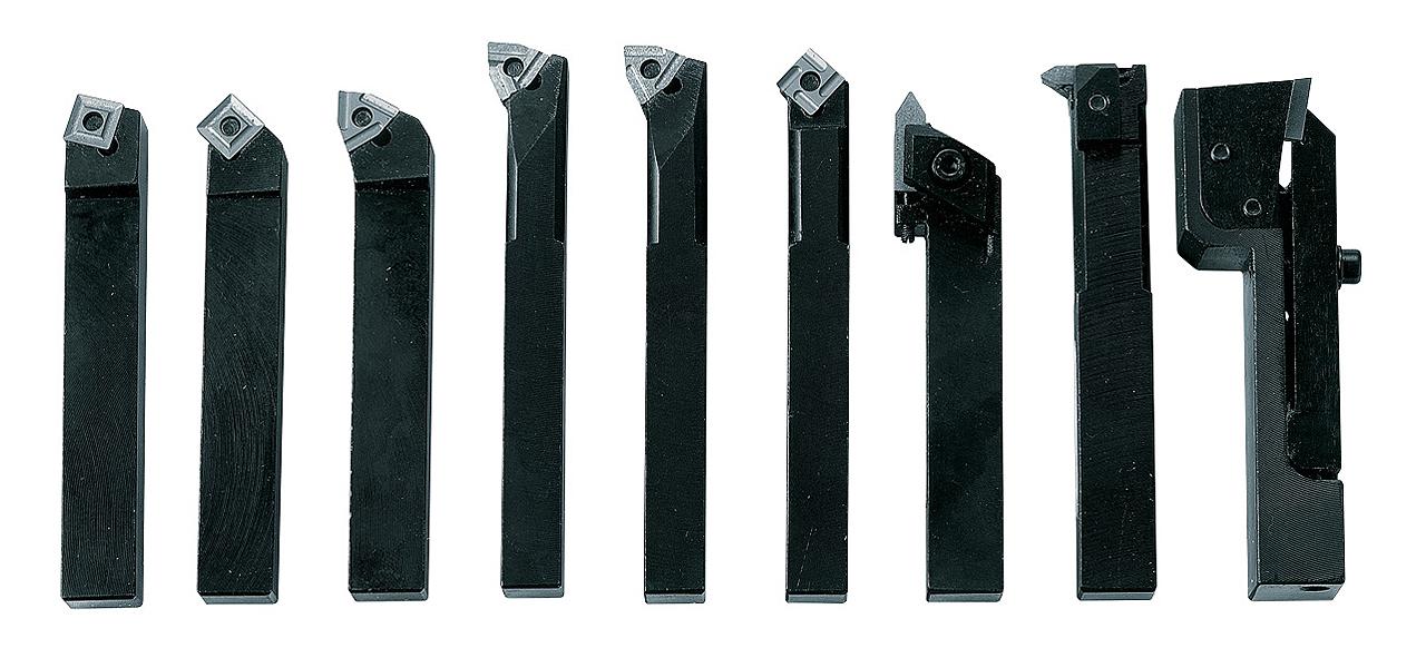 Noże tokarskie z płytkami weglikowymi HM, 12 mm, 9 szt. Zestaw C BERNARDO