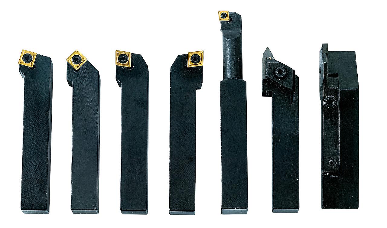 Noże tokarskie z płytkami weglikowymi HM, 16 mm, 7 szt. Zestaw D BERNARDO