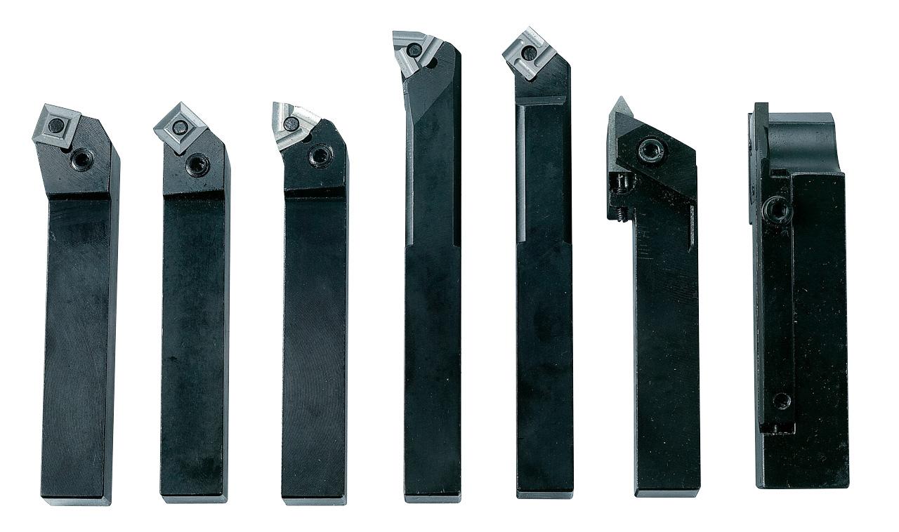 Noże tokarskie z płytkami weglikowymi HM, 20 mm, 7 szt. Zestaw D BERNARDO