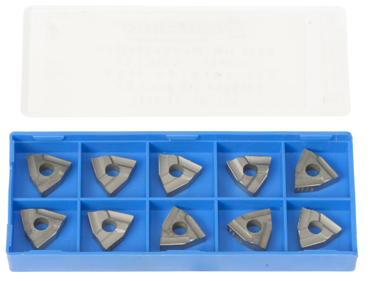 Zestaw płytek węglikowych HM do noży tokarskich T31005A ( 10 szt. ) C3 BERNARDO