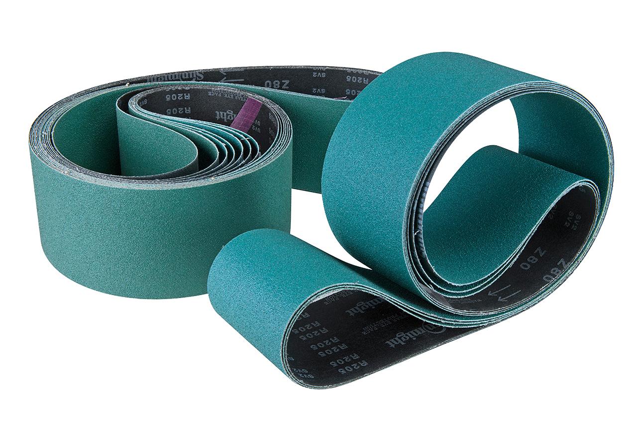 Papier taśma szlifierska - zestaw - do stali nierdzewnej 2000 x 100 mm - G 4 /60/80/100/120 (każdej po 2 szt) BERNARDO