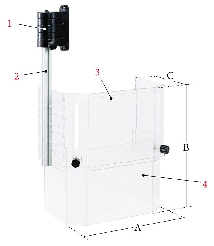 Medium adjustable safety guard for drills & mills BERNARDO
