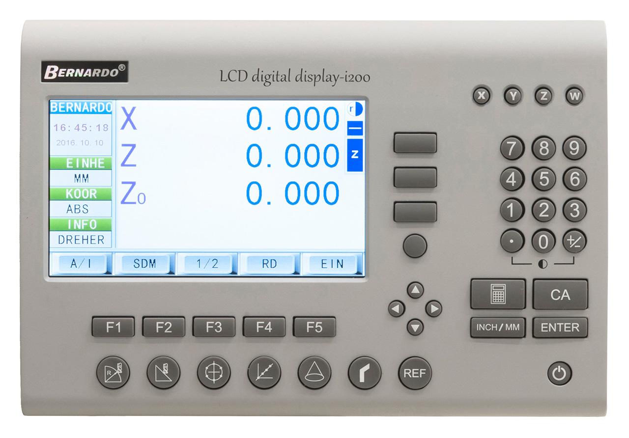 Cyfrowy wyświetlacz LCD - odczyt 3 osi i200 BERNARDO