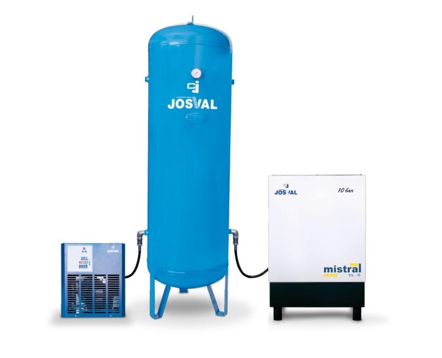 JOSVAL MISTRAL Set 7.5-B AS - ZESTAW (270L, 7.5KM, 10BAR) + osuszacz + filtr JOSVAL