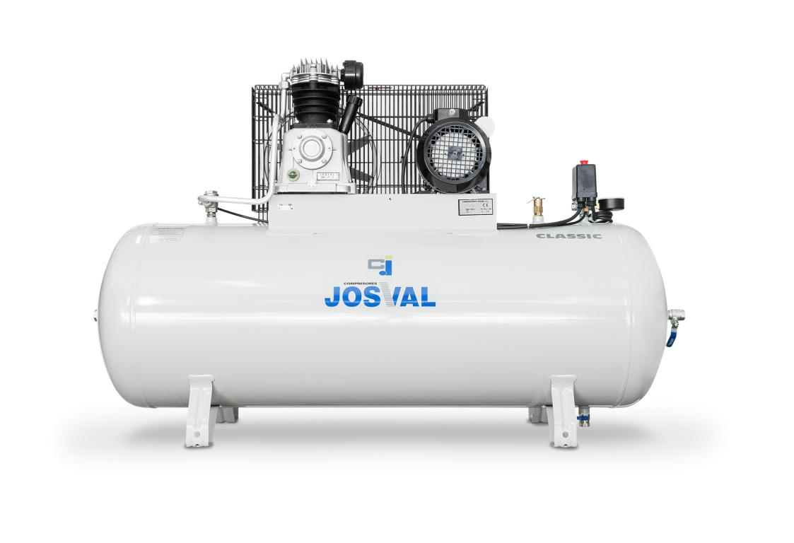 Kompresor pasowy - tłokowy CLASSIC - MC-MLC-25/A (230V) (25L, 1.5KW, 10BAR) (zawór automatyczny) JOSVAL