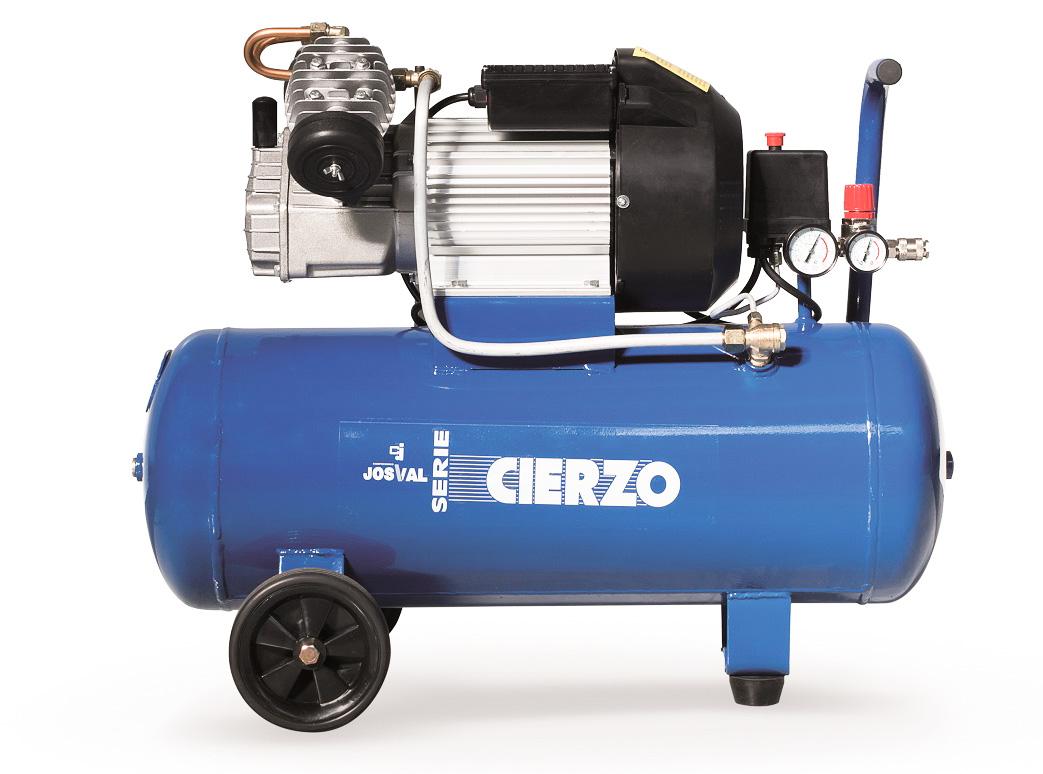 Kompresor tłokowy CIERZO - NKV 50 - (2 cylindry w układzie V) (50L, 3KM, 8BAR, 230V) JOSVAL