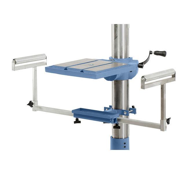 Do zakładania długich przedmiotów obrabianych można dołączyć do maszyny wyciągany suport wiertars... 35 - zdjęcie 9