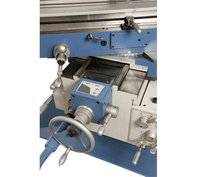 Duże prowadnice zapewniają niezawodną stabilność stołu, stół wychylny w zakresie od -45° do +45�... 230 - zdjęcie 8