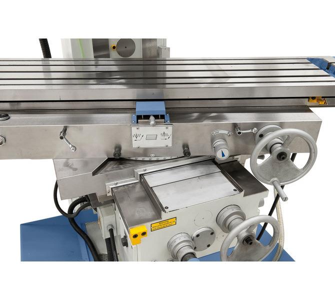 Większy komfort obsługi poprzez regulację stołu w osi x za pomocą pokrętła z przodu maszyny. - 234 - zdjęcie 7
