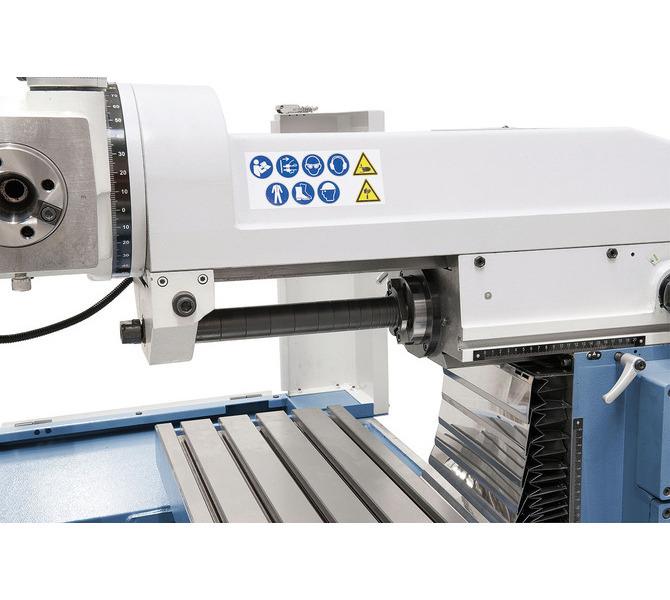 W wyposażeniu standardowym z podtrzymką i długim  trzpieniem frezowym do  frezowania poziomego. - 261 - zdjęcie 8