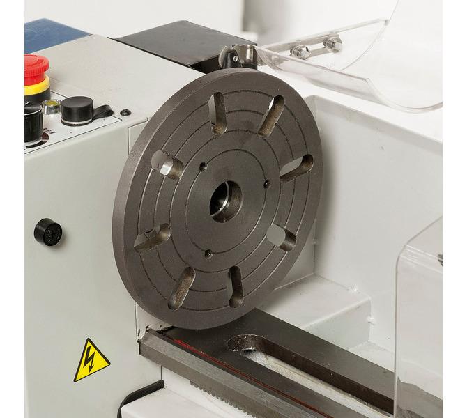 Do mocowania przedmiotów obrabianych o nietypowych kształtach maszynę można wyposażyć w tarczę czo... 289 - zdjęcie 5