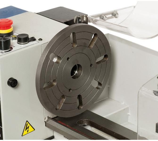 Do mocowania przedmiotów obrabianych o nietypowych kształtach maszynę można wyposażyć w tarczę czo... 291 - zdjęcie 5