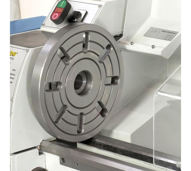 Do mocowania przedmiotów  obrabianych o nietypowych  kształtach maszynę można  wyposażyć w tarczę ... 314 - zdjęcie 8
