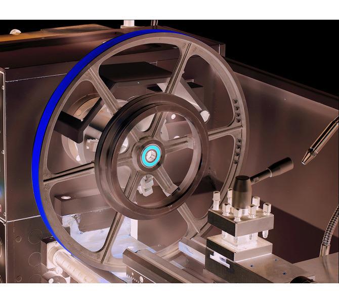 Zdejmowany mostek umożliwiający obróbkę przedmiotów o średnicy do ø450 mm. - 343 - zdjęcie 9