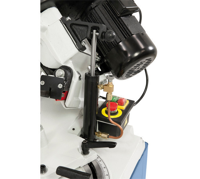Precyzyjne opuszczanie ramienia piły w wyposażeniu standardowym z hydraulicznym siłownikiem. - 6439 - zdjęcie 4
