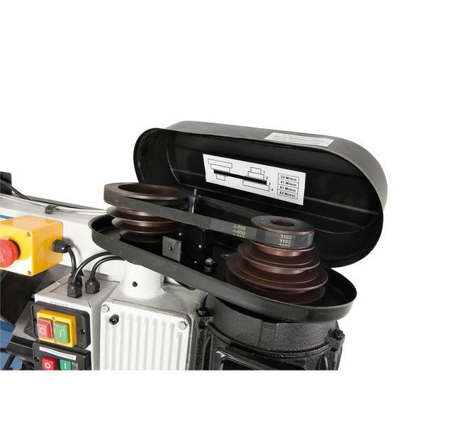 Za pomocą paska wielorowkowego można szybko i łatwo zmieniać prędkość piły taśmowej. - 458 - zdjęcie 4