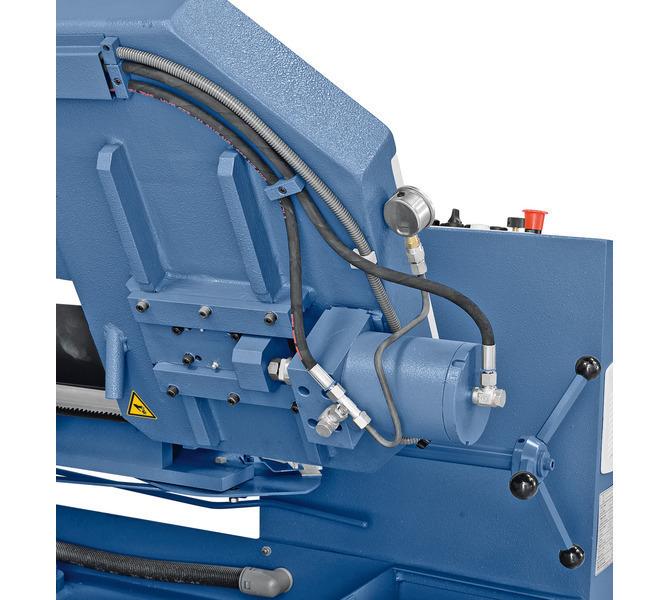 W wyposażeniu opcjonalnym hydrauliczny naciąg piły taśmowej. - 463 - zdjęcie 7