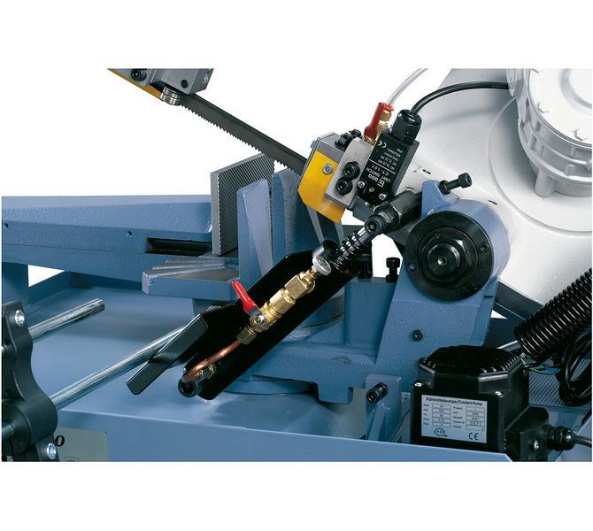 Precyzyjne opuszczanie ramienia piły w wyposażeniu standardowym z hydraulicznym siłownikiem.  - 493 - zdjęcie 5