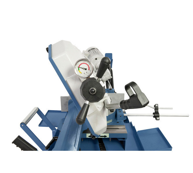 W wyposażeniu standardowym manometr do optymalnej regulacji naciągu piły taśmowej.  - 510 - zdjęcie 4