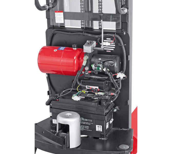 Elektryczny wózek paletowy - masztowy wysokiego podnoszenia EHS 1000 - 1.6 * BERNARDO - 1041 - zdjęcie 5