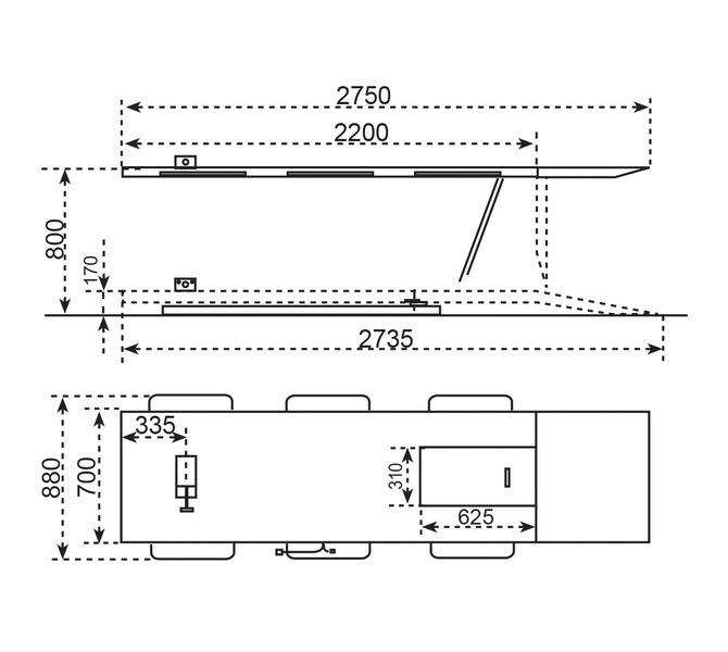 Platforma - podnośnik motocyklowy MHB 500 BERNARDO - 1081 - zdjęcie 2