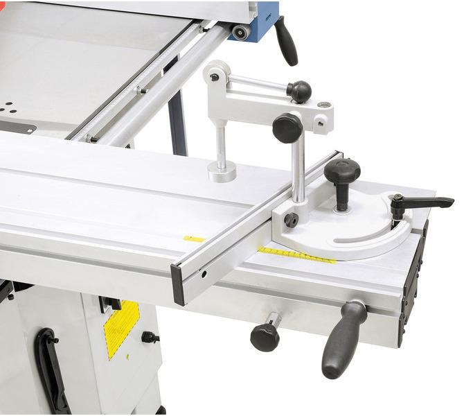 Rowek teowy w stole formatowym pozwala zamontować ogranicznik skosu i płozę do obrzynania. - 1237 - zdjęcie 3