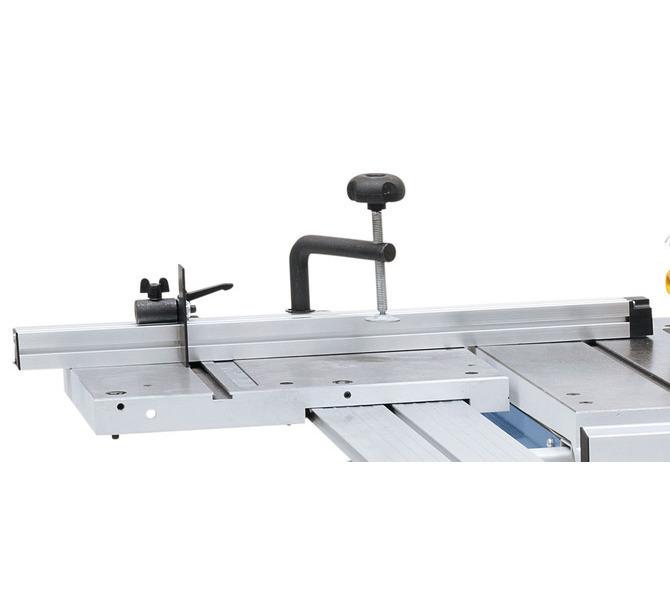 Ogranicznik aluminiowy z  klapą ogranicznika i dociskaczem  zawarte w zakresie dostawy. - 1272 - zdjęcie 7