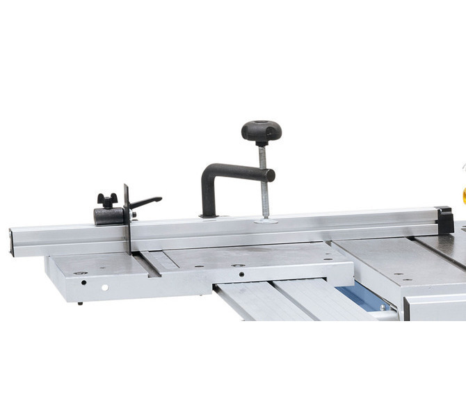 Ogranicznik aluminiowy z  klapą ogranicznika i dociskaczem  zawarte w zakresie dostawy. - 1274 - zdjęcie 6